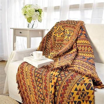 Funda de sofá Bohemian Throw Blankets Mezcla de Toalla de Playa Retro de Doble Cara (Color : A, Tamaño : 90x150cm): Amazon.es: Hogar