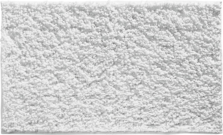 InterDesign Microfiber Fuzi Bathroom Shower Accent Rug, 34 x 21, White