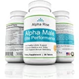Alpha Rise Libido Support Elite Male Performance With Tongkok Ali, Horny Goat Weed, Guarana, Saw Palmetto, For Men Blood Flow,, and Male Sexual Well-being in