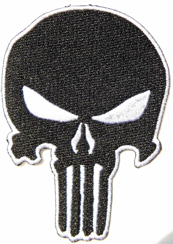 ブラックスカルSwatタクティカルゲームギアパッチアイロン刺繍ジャケットバッグキャップ B071VV3XMT