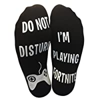 'Do Not Disturb, I'm Playing Fortnite' Funny Ankle Socks - Great Gamer Gift For Fornite Lovers (UK SELLER)
