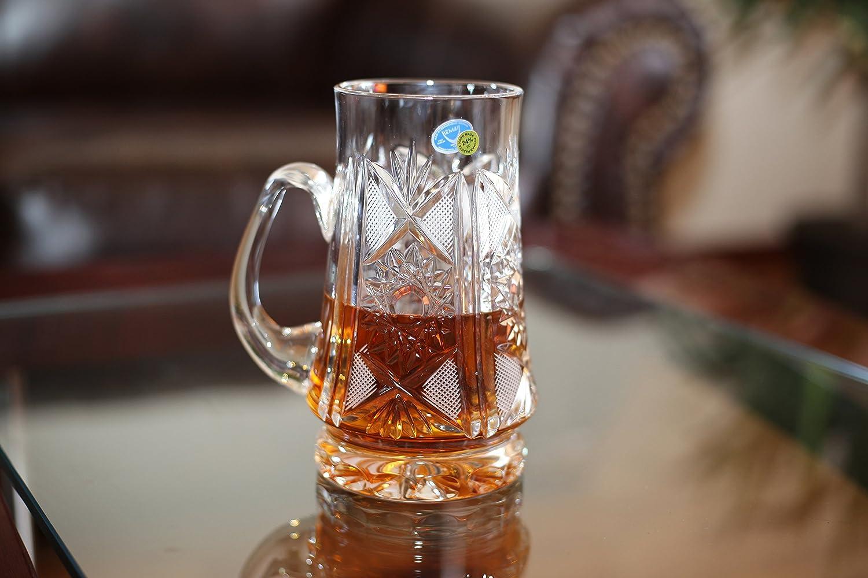 Clear 16 oz Hand Made Russian Crystal Vintage Beer Mug Neman Glassworks M6511