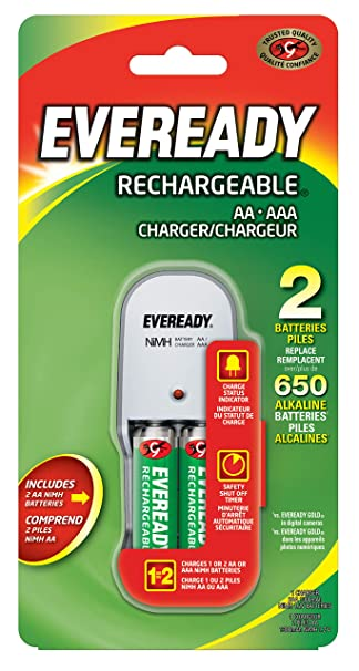 Amazon.com: Eveready – Pilas recargables 2 unidades AA con ...