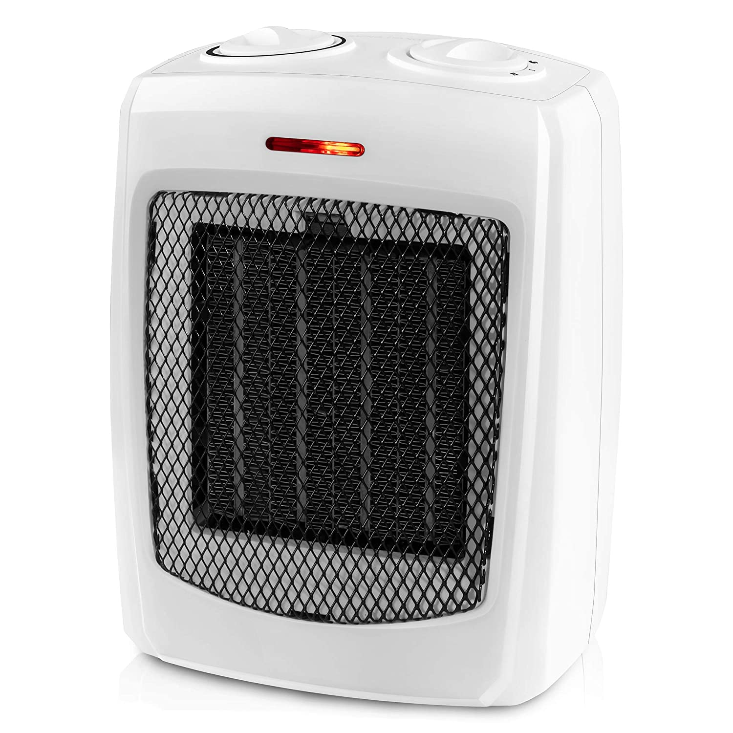 andily Space Heater Electric Heater for Home and Office Ceramic Small Heater with Thermostat, 750W 1500W