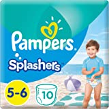 Pampers Splashers Swimming Pants, Size 5-6, >14 kg, Carry Pack, 10 Count