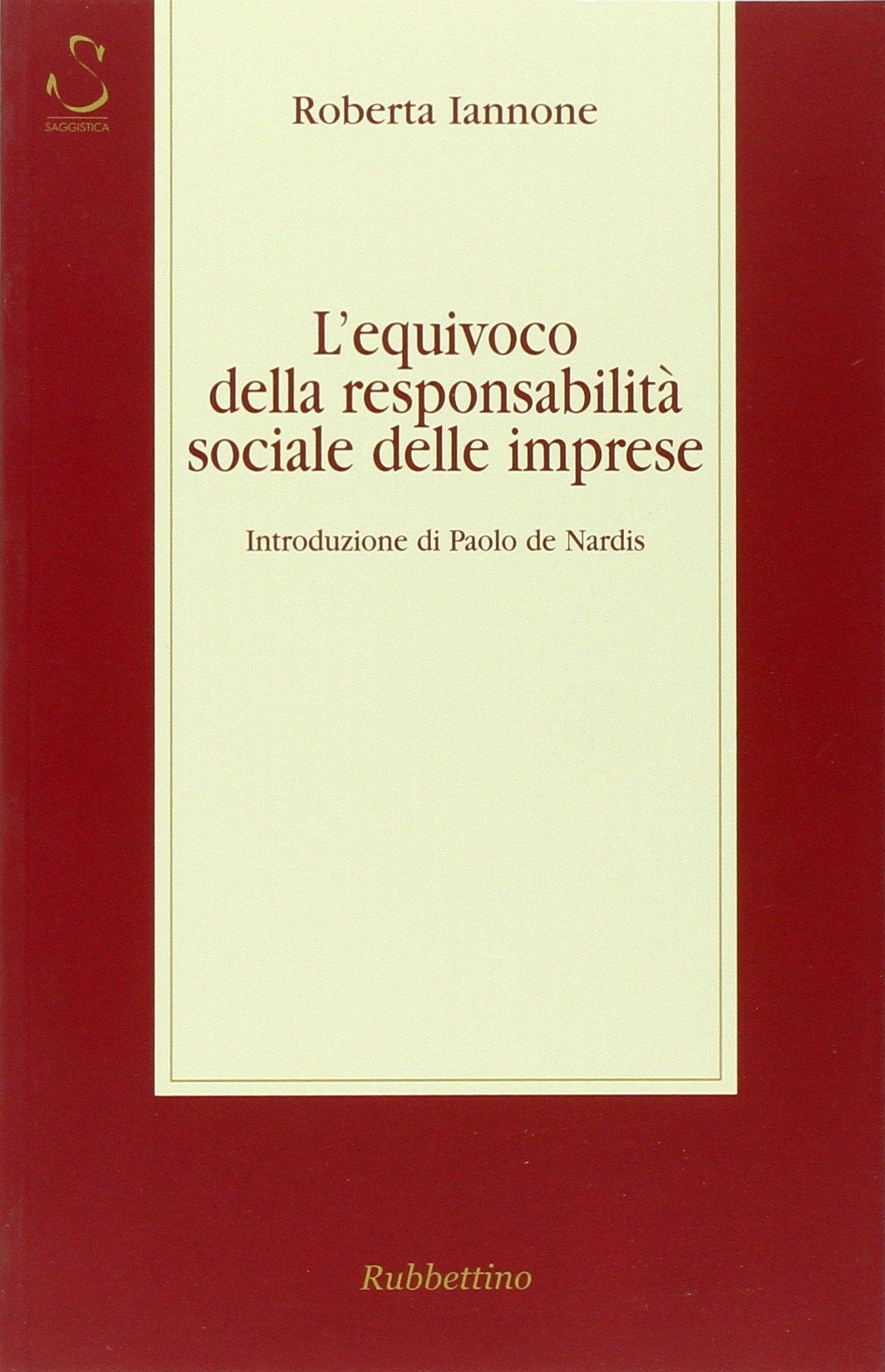 Download L'equivoco della responsabilità sociale delle imprese pdf epub