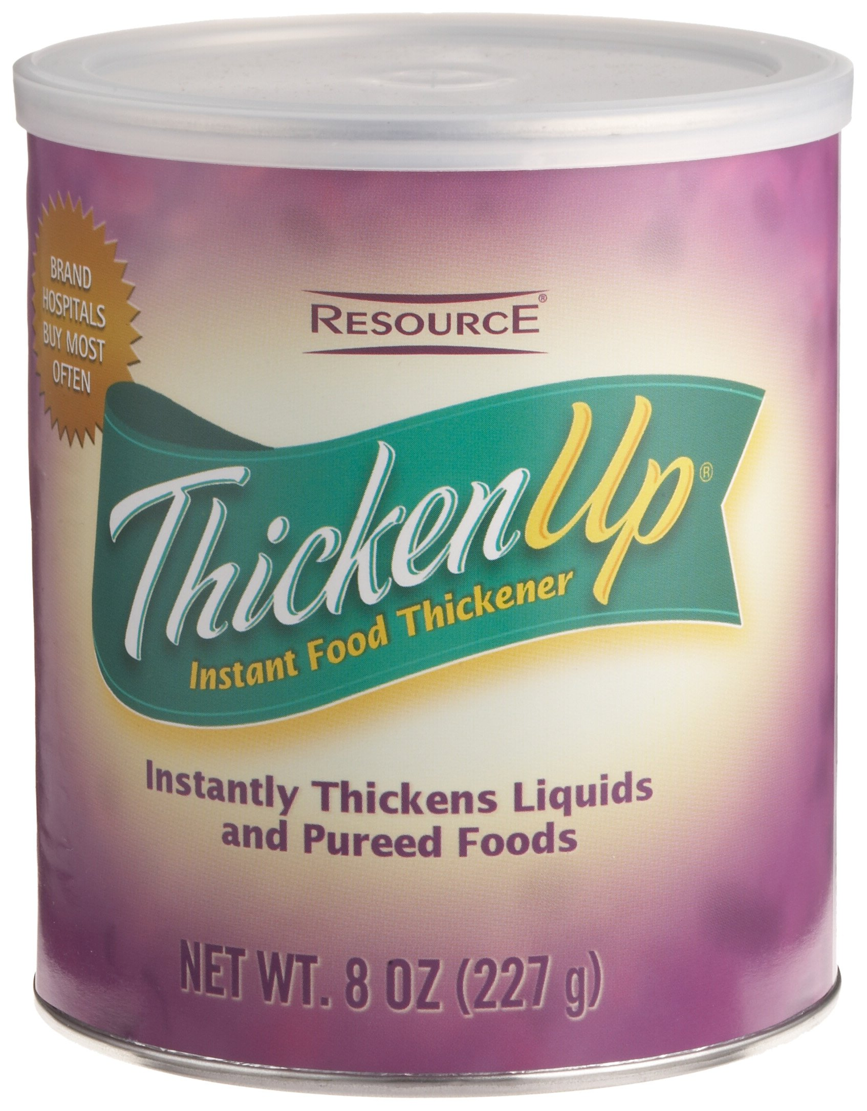 Resource ThickenUp Instant Food & Drink Thickener Powder, Unflavored, 8 Ounce Canister (Pack of 12) by ReSource (Image #2)