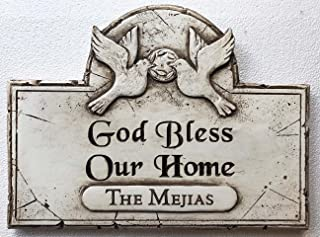 product image for Piazza Pisano God Bless Our Home Personalized Name Family Sign