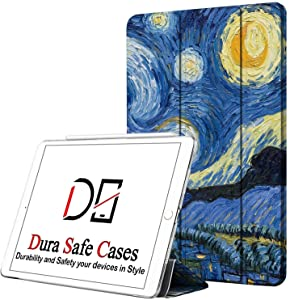 DuraSafe Cases for iPad PRO 12.9-3 Gen (Will Not Fit on PRO 12.9 2020) Ultra Slim Protective Cover Supports Pencil Pair & Charging with Transparent Back - Starry Night