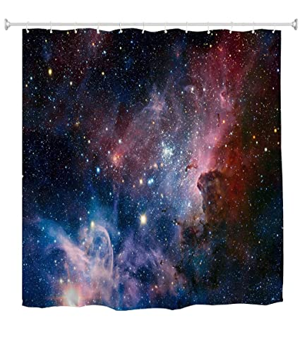 Amazon Goodbath Space Shower Curtain Galaxy Nebula Stars