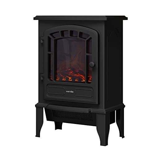 Warmlite WL46016 LED Stove Fire, LED Log Flame Effect, 2000 W, Black