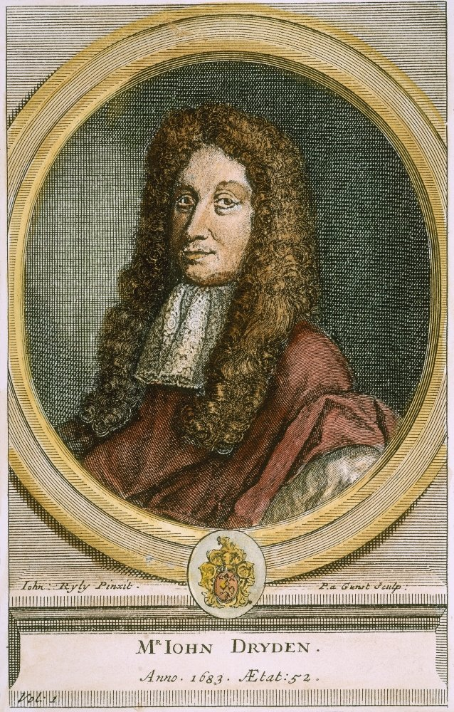 Nenglish Poet Line Engraving Dutch C1700 After A Painting Of 1683 By John Riley Poster Print by 24 x 36 1631-1700 John Dryden