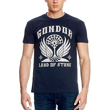 84155cf7a93478 Herr der Ringe T-Shirt Gondor von Elbenwald blau - L: Amazon.de ...