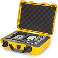 Nanuk 910 Waterproof Carry-on Hard Case with Foam Insert for DJI Mavic Mini 2 Fly More - Yellow