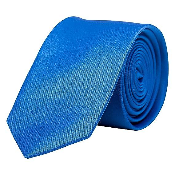 Korntex Unisex - Adulto KXTIEB5 Corbata Estrecha, Azul: Amazon.es ...