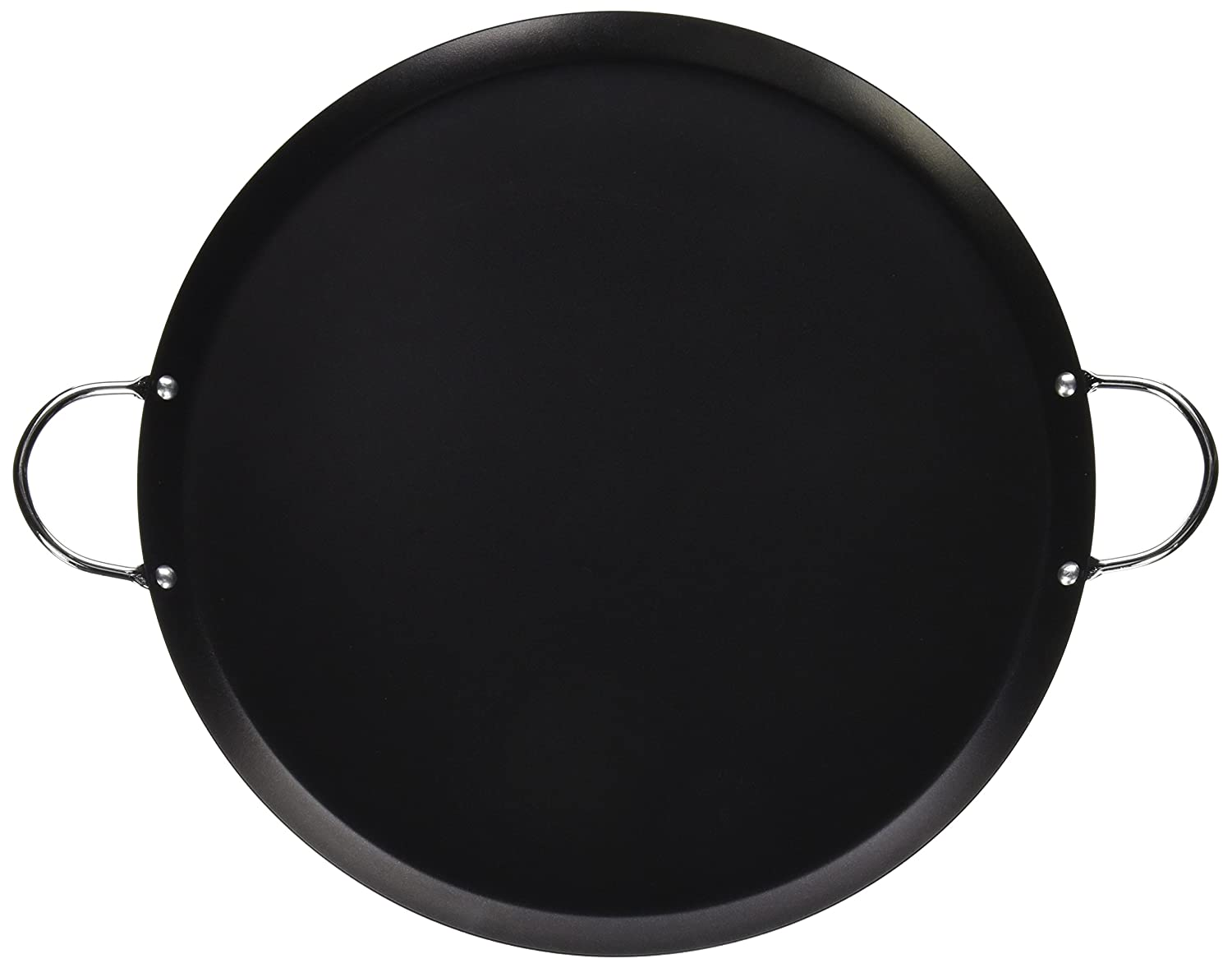 IMUSA USA CAR-52023 Round Large Comal 13.5-Inch, Black