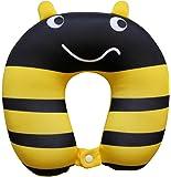 Nido Nest Kids Travel Neck Pillow - Best for Long Flights Road Trips & Birthday Gifts For Kids - U-Shaped Pillows Sized for Toddler Preschool Kindergarten Elementary Children - BUMBLEBEE