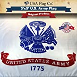US Army Flag by USA Flag Co. is 100% American Made: The BEST 3x5 Outdoor Military Flags, Made in the United States of America. (3 by 5 foot)