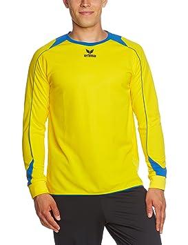 erima Trikot Santiago langarm - Camiseta de equipación de balonmano para niña, color amarillo,