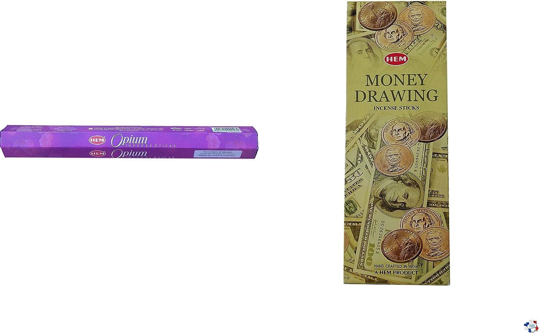 WLM Incienso Hem Money Drawing + Incienso Hem Opium: Amazon.es: Hogar