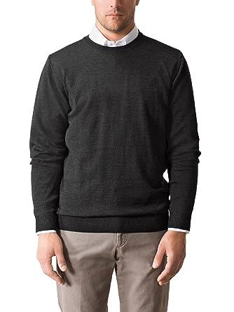 Walbusch Herren Merino-Mix Rundhals-Pullover einfarbig  Walbusch  Amazon.de   Bekleidung aab0eada61