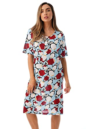 Just Love Short Sleeve Nightgown Holiday Sleepwear