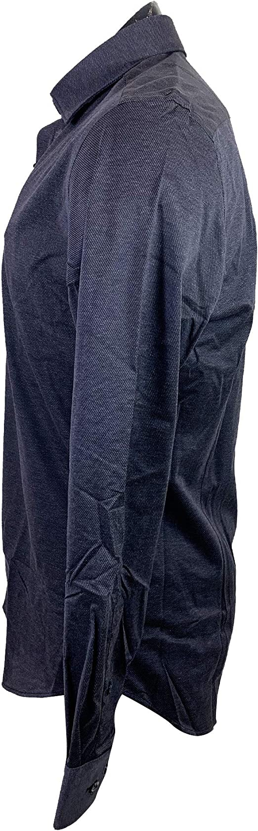 MASSIMO DUTTI Men 0165/365/400 - Camisa de algodón Ajustada Azul L: Amazon.es: Ropa y accesorios