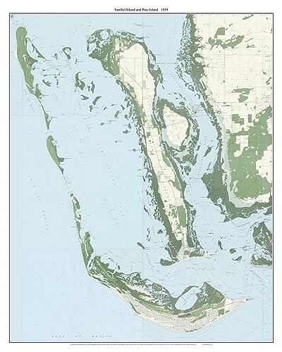 Amazon Com Sanibel Island And Pine Island Florida 1959 Topo Map A