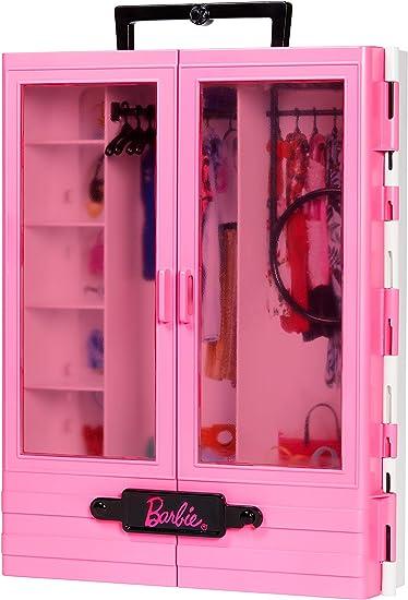 Amazon.es: Barbie - Fashionista Armario Portable para Ropa y ...