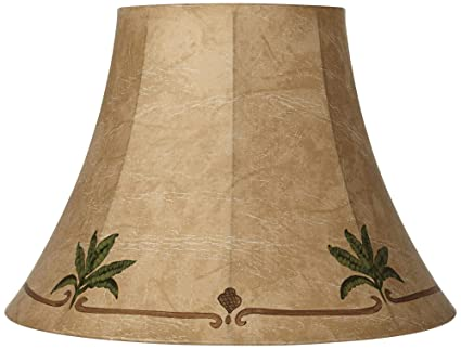 Palm Leaf Faux Leather Lamp Shade 9x18x13 Spider Lamp Shades