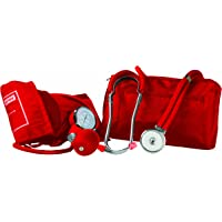 Primacare Medical Supplies DS-9181 Kit de pression sanguine professionnel avec stéthoscope Sprague Rappaport Rouge