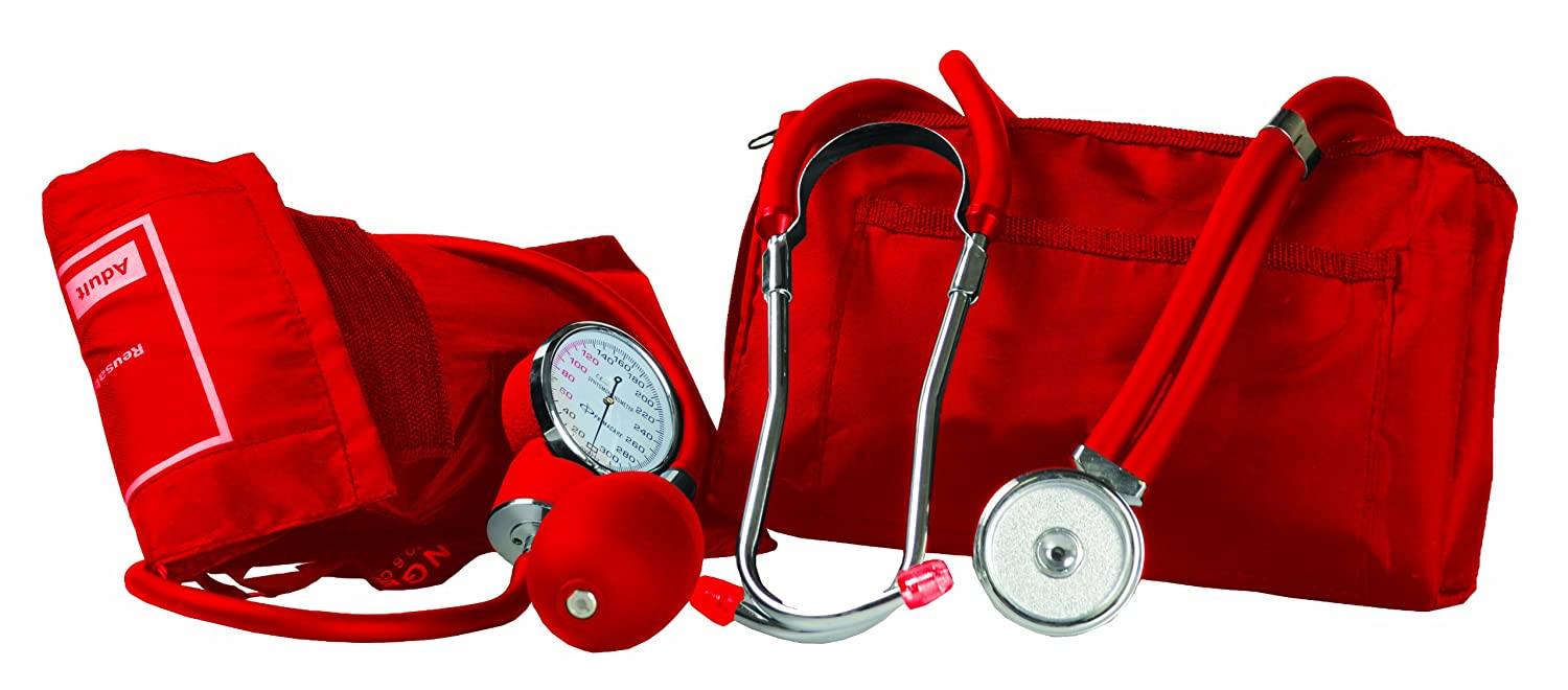 Primacare Medical DS-9181-R - Tensiómetro de brazo manual, color rojo: Amazon.es: Industria, empresas y ciencia