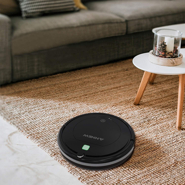 per Capelli di Animali Domestici//tappeti//Pavimenti duri ANNEW Aspirapolvere Robot con Telecomando 3 modalit/à di Pulizia Anti-Caduta Filtro HEPA