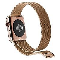 JETech Correa Reemplazable para Apple Watch Series 1/2/3/4,Cerradura Magnética, Acero Inoxidable (40/38mm,Oro Rosa