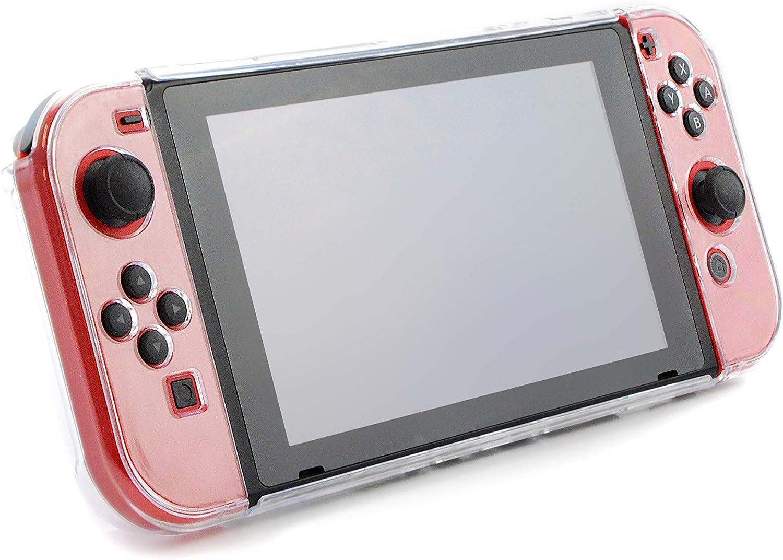 Estuche / cubierta para interruptor de Nintendo Switch - Acoplable - Plástico transparente transparente para protección - Compatible con Nintendo Switch Console y Joy-Cons: Amazon.es: Videojuegos