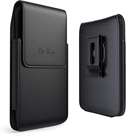 Leather Cell Phone Belt Holster Case with Belt Clip Pouch Holder for Samsung Galaxy S9+ Plus // S10+ Plus Fits Phone w//Case On Swivel Belt Clip Debin Galaxy S9 Plus S10 Plus Holster