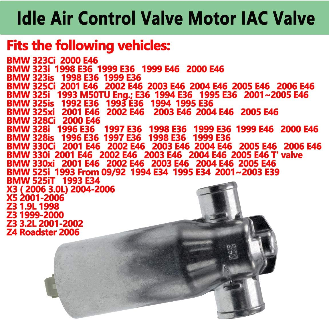 0280140545 Idle Air Control Valve Motor IAC Valve,Compatible For ...