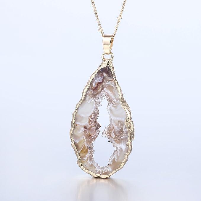 geode pendant white geode chakra hippie White geode necklace pixie geode crystal necklace geode necklace