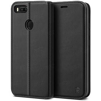 BEZ Funda Xiaomi Mi A1/ Mi 5X, Carcasa Compatible para Xiaomi Mi A1/ Mi 5X Libro de Cuero con Tapa y Cartera, Cover Protectora con Ranura para ...
