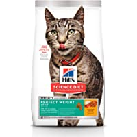 Hill's Science Diet, Perfect Weight (Control de Peso) Alimento para Gatos Adultos, Seco (bulto) 1.4kg
