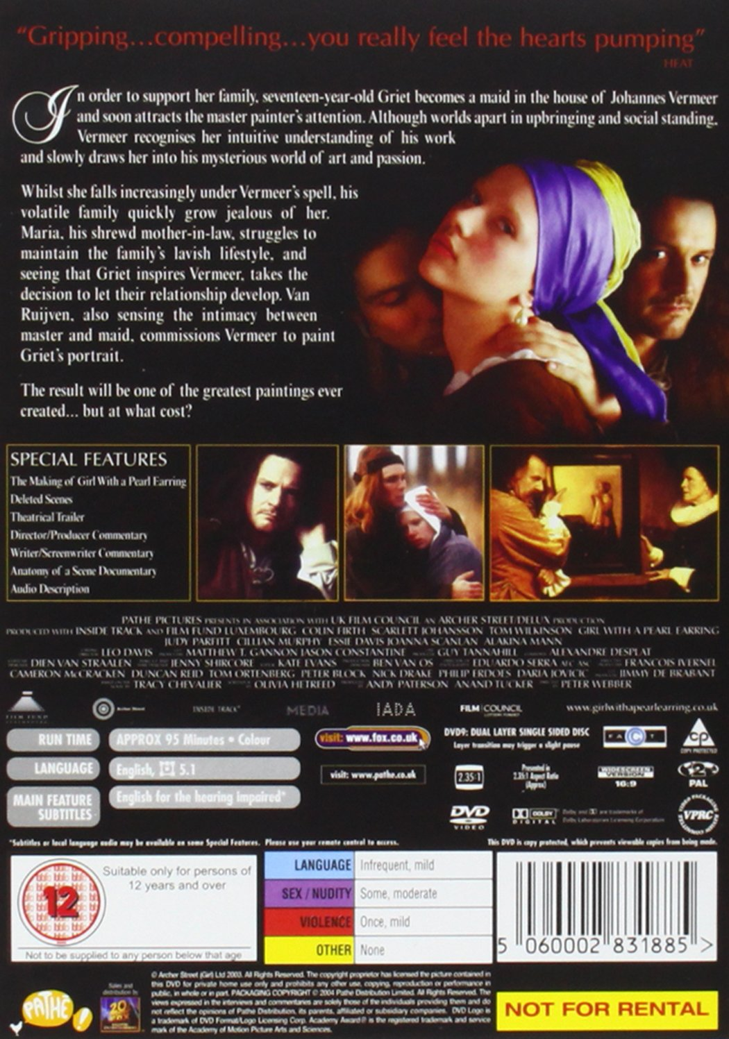 Amazon.com: Girl with a Pearl Earring: Scarlett Johansson, Colin Firth, Tom Wilkinson, Judy Parfitt, Cillian Murphy, Essie Davis, Joanna Scanlan, ...