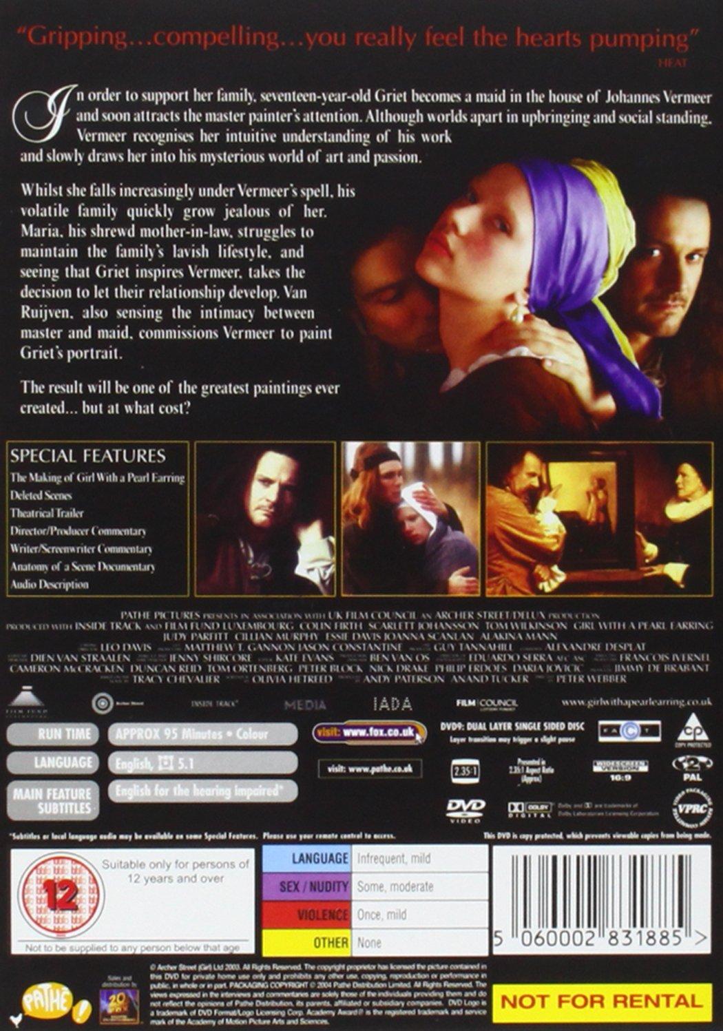 Amazon.com: Girl with a Pearl Earring: Scarlett Johansson, Colin Firth, Tom Wilkinson, Judy Parfitt, Cillian Murphy, Essie Davis, Joanna Scanlan, ...