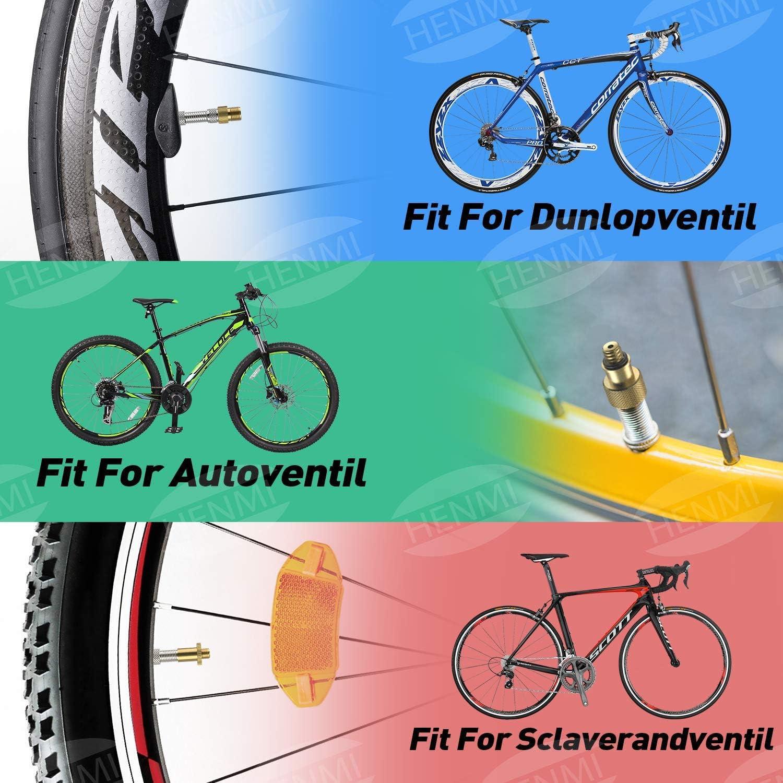 HENMI 12Pcs Bicicleta válvula adaptador,Cobre puro Sin Fugas de ...