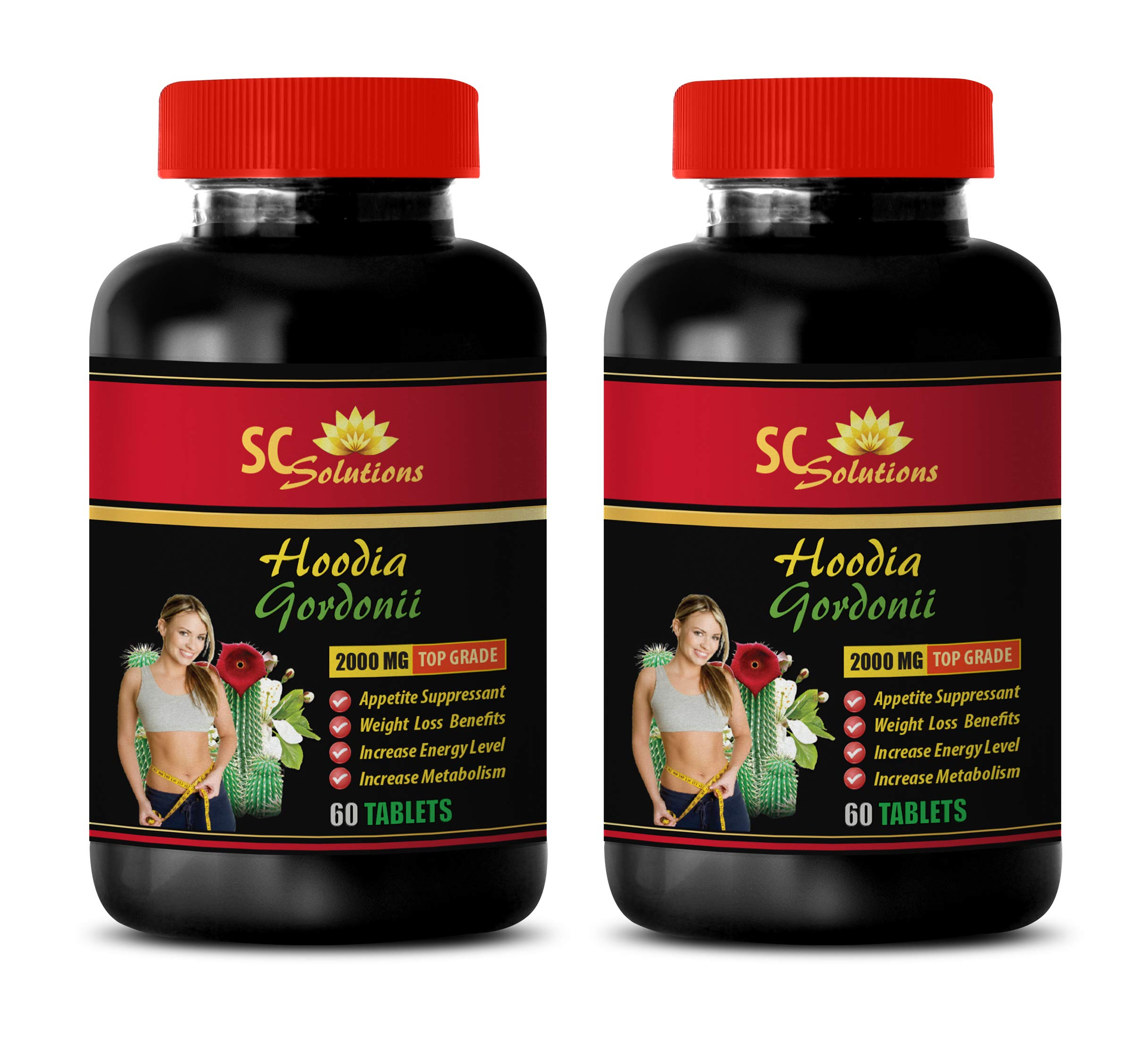 Appetite Suppressant with Energy - HOODIA GORDONII 2000MG - Hoodia Pills - 2 Bottle (120 Tablets)