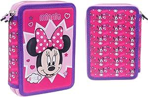 Minnie Mouse- Estuches Unisex Adulto Plumier 3D Doble 562197 Minnie 15x5x21 cms,, Talla única (Factory CR 1): Amazon.es: Oficina y papelería
