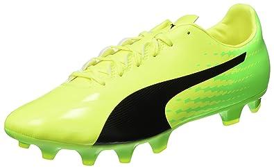 Puma Herren Evospeed 17.4 SG Fußballschuhe, Gelb (Safety Yellow Black-Green Gecko 01), 43 EU