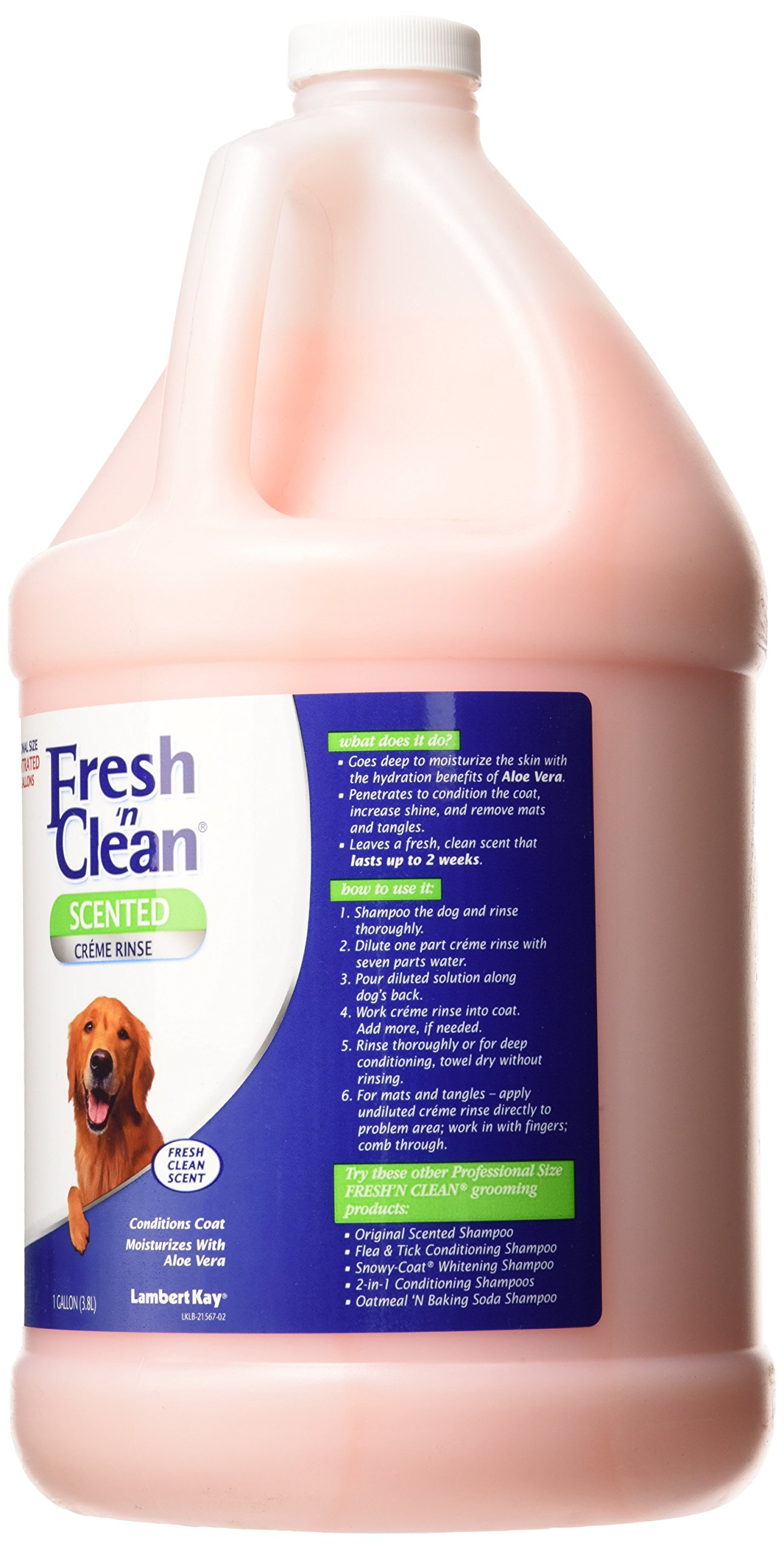 Lambert Kay Fresh'n Clean Dog Creme Rinse, 1-Gallon by Lambert Kay Fresh n Clean