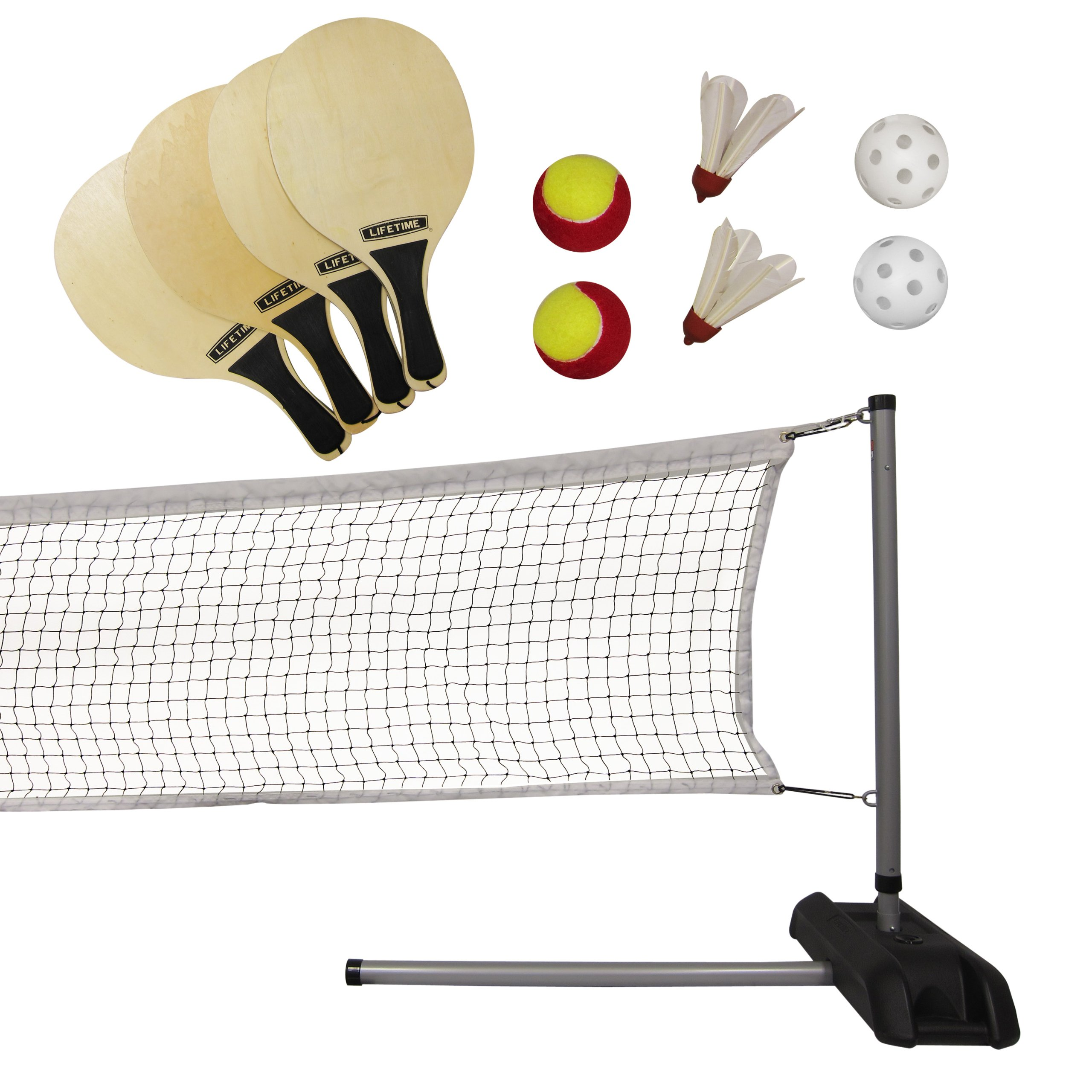 Lifetime 90421 Pickleball, Badminton, Quickstart Tennis Net Set