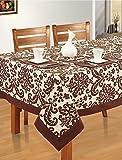 Swayam Libra Printed Cotton Six Seater Table Sheet - Choco (RDS16-60x90-9009)