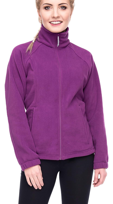 Women's Full-Zip Polar Sport Fall Winter Spring Fleece Jacket MOKJ08901